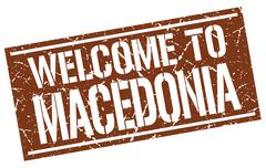 Welcome to Macedonia stamp Stock Illustration
