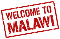 Welcome to Malawi stamp Stock Illustration