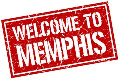 Welcome to Memphis stamp Piirros