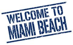 Welcome to Miami Beach stamp Stock Illustration