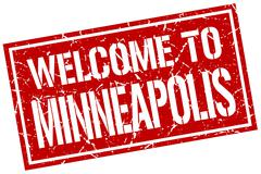 Welcome to Minneapolis stamp Piirros