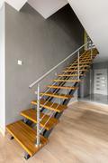 Design interior staircase at home Stock Photos