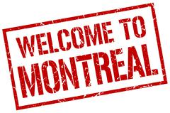 Welcome to Montreal stamp Stock Illustration