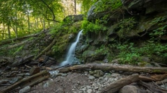 Small Waterfall 4k Time Lapse Stock Footage