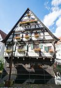 Historic half-timbered house in Ulm Stock Photos