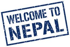 Welcome to Nepal stamp Stock Illustration