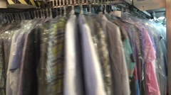 Chemical purifiaction of clothes Stock Footage