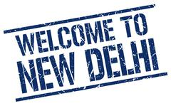 Welcome to New Delhi stamp Stock Illustration
