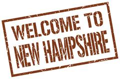 Welcome to New Hampshire stamp Stock Illustration