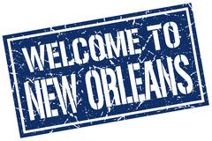 Welcome to New Orleans stamp Stock Illustration