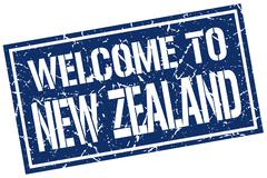 Welcome to New Zealand stamp Piirros