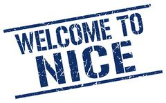 Welcome to Nice stamp Stock Illustration