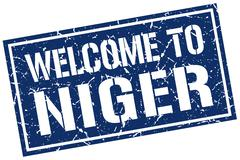 Welcome to Niger stamp Stock Illustration