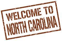 Welcome to North Carolina stamp Stock Illustration