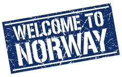 Welcome to Norway stamp Piirros