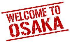 Welcome to Osaka stamp Piirros