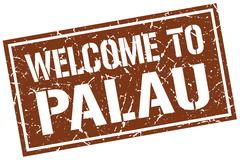 Welcome to Palau stamp Stock Illustration
