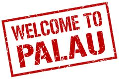 Welcome to Palau stamp Piirros
