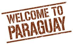 Welcome to Paraguay stamp Stock Illustration