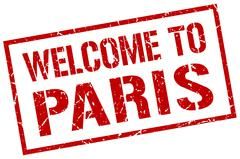 Welcome to Paris stamp Stock Illustration
