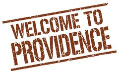 Welcome to Providence stamp Stock Illustration