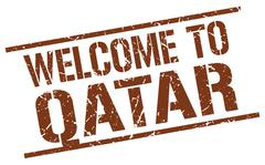 Welcome to Qatar stamp Piirros