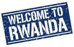 Welcome to Rwanda stamp Stock Illustration