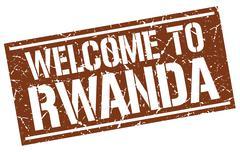 Welcome to Rwanda stamp Stock Illustration