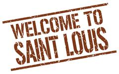 Welcome to Saint Louis stamp Piirros