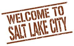 Welcome to Salt Lake City stamp Stock Illustration