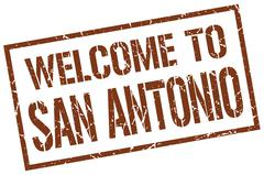 Welcome to San Antonio stamp Stock Illustration