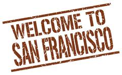 Welcome to San Francisco stamp Piirros