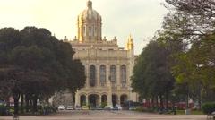 Establishing shot of the Museum Of Revolution in Havana, Cuba. Stock Footage