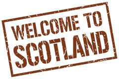 Welcome to Scotland stamp Piirros