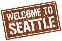 Welcome to Seattle stamp Piirros