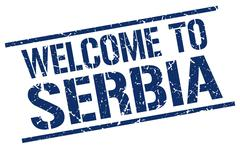 Welcome to Serbia stamp Stock Illustration