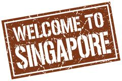 Welcome to Singapore stamp Piirros