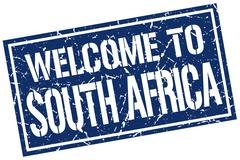 Welcome to South Africa stamp Stock Illustration