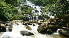 Mae Ya Waterfall, Doi Inthanon National Park. Chiang Mai, Thailand. Stock Footage