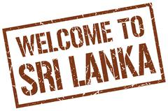 Welcome to Sri Lanka stamp Stock Illustration