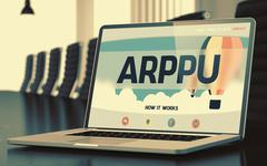 Arppu on Laptop in Meeting Room. 3D Render Stock Illustration