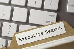 Card Index Executive Search. 3D Illustration Stock Illustration