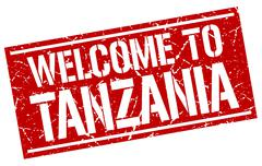 Welcome to Tanzania stamp Stock Illustration