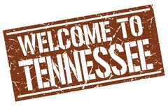 Welcome to Tennessee stamp Stock Illustration