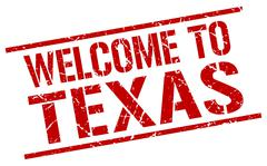 Welcome to Texas stamp Piirros