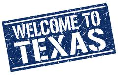 Welcome to Texas stamp Stock Illustration