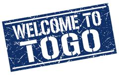 Welcome to Togo stamp Stock Illustration