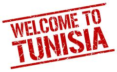 Welcome to Tunisia stamp Stock Illustration
