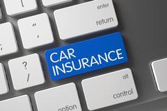 Car Insurance Keypad. 3D Render Stock Illustration