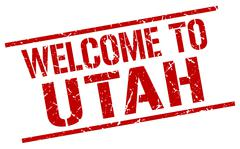 Welcome to Utah stamp Stock Illustration